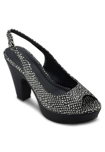 Stacey 厚底露趾高跟鞋, 女鞋, 厚zalora 台灣底鞋