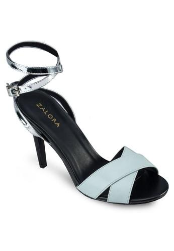 交叉繞踝高跟涼鞋, zalora鞋女鞋, 細帶高跟鞋