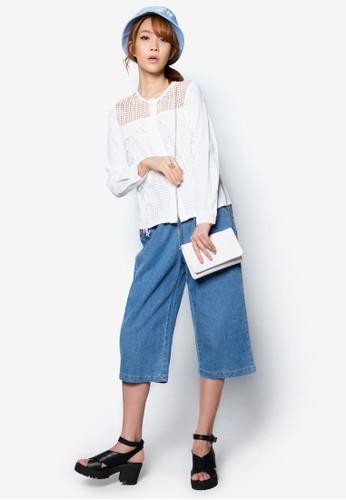 鉤花鏤空流蘇上zalora鞋子評價衣, 服飾, 服飾