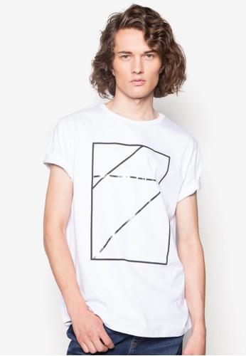 簡約線條印花圓領TEzalora 心得E, 服飾, 服飾