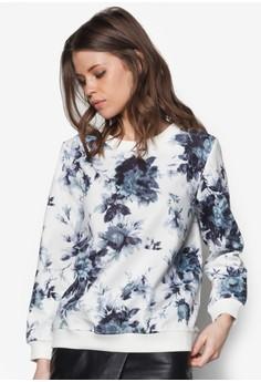 花卉印花長袖上衣