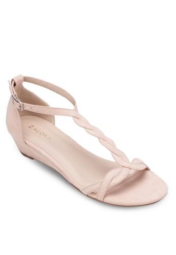 T-Strap Wedge Sazalora鞋子評價ndals, 女鞋, 鞋