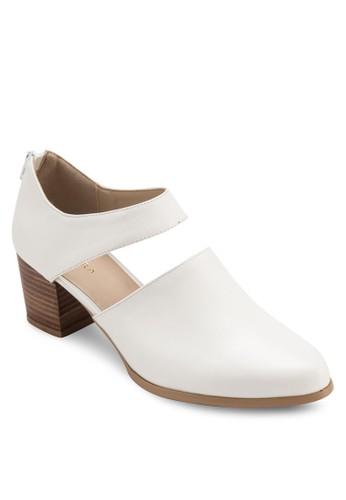 鏤空仿皮木製粗跟鞋,zalora 評價 女鞋, 鞋