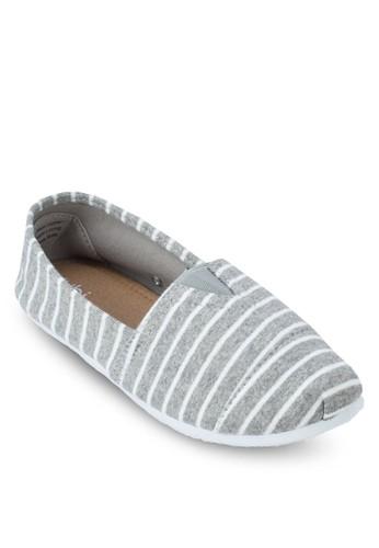 Jenna 條紋懶人鞋, 女鞋, zalora 台灣懶人鞋