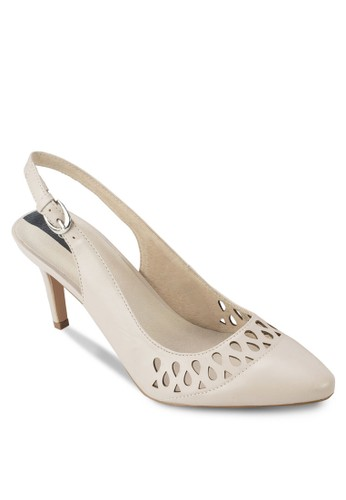 雕花踝帶尖頭高跟鞋, 女鞋zalora開箱, 厚底高跟鞋