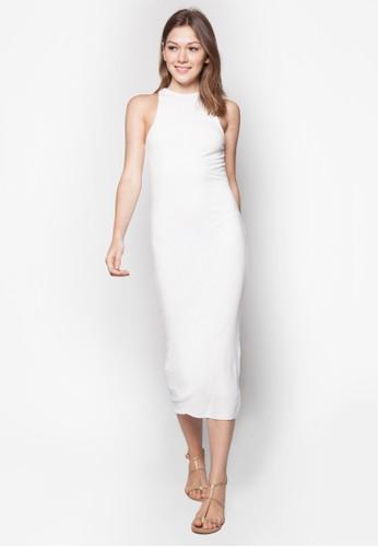 素色羅紋連身裙, 服zalora 心得飾, 服飾