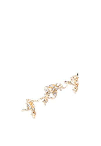 鑲鑽zalora鞋鏈飾連環戒指, 飾品配件, 飾品配件