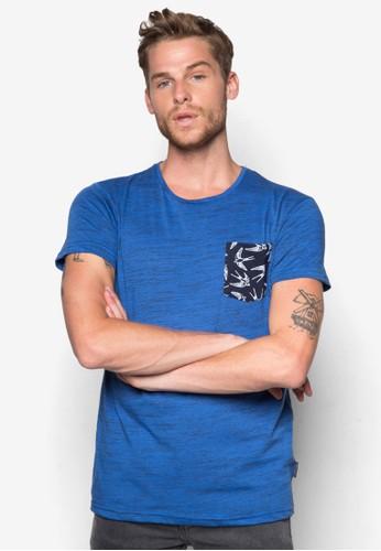 Blaine zalora 台灣燕子印花口袋T 恤, 服飾, 印圖T恤