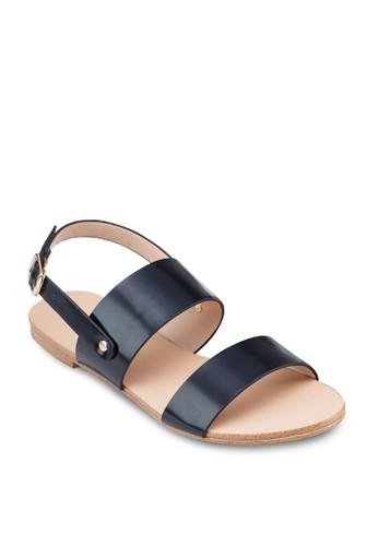 雙寬帶繞踝涼鞋, zalora開箱女鞋, 鞋