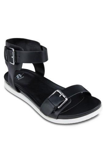 扣環寬帶zalora 評價繞踝涼鞋, 女鞋, 鞋