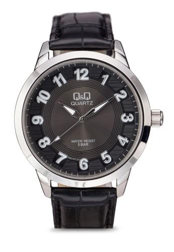 Q&Q zalora鞋子評價Q956J305Y 仿皮數字手錶, 錶類, 飾品配件