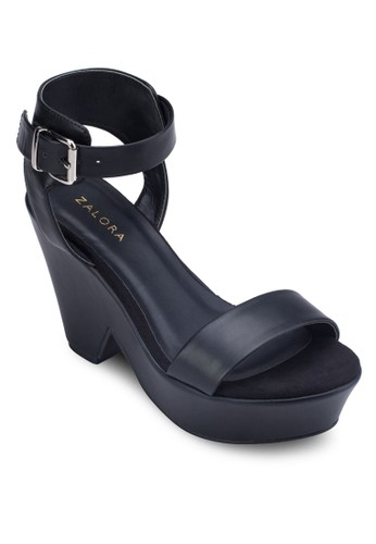 踝帶厚底粗跟涼zalora 評價鞋, 女鞋, 鞋