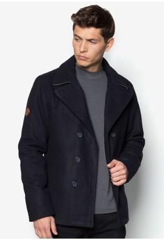 雙排扣翻領羊毛外套
