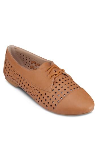 沖孔繫帶樂福鞋,zalora退貨 女鞋, 船型鞋