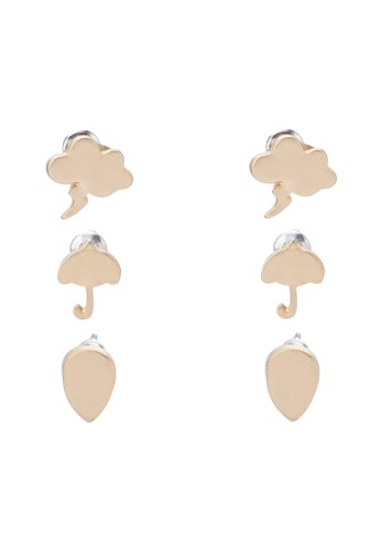 就是愛雨天三入耳針組, 飾品配件,zalora 台灣 飾品配件