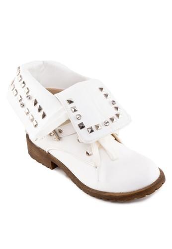 翻筒鉚釘踝靴zalora鞋, 女鞋, 鞋