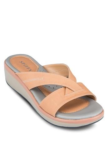 交叉帶厚底涼鞋,zalora 心得 女鞋, 涼鞋