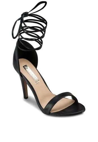 Ontaro 繞踝繫帶高跟涼鞋zalora 台灣, 女鞋, 鞋