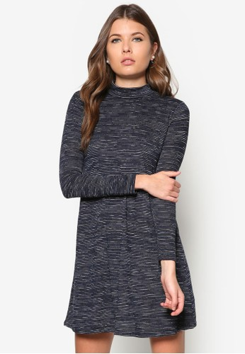 Petite 染色高領寬擺連身裙, 服飾,zalora退貨 洋裝