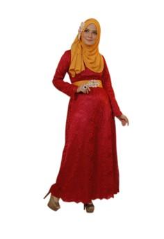 Gamis Pesta Baju Pesta Muslim Nyaman juga untuk Ibu Menyusui
