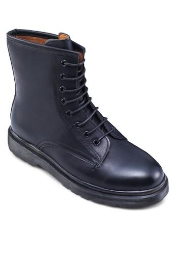 繫帶zalora 心得仿皮軍靴, 女鞋, 鞋