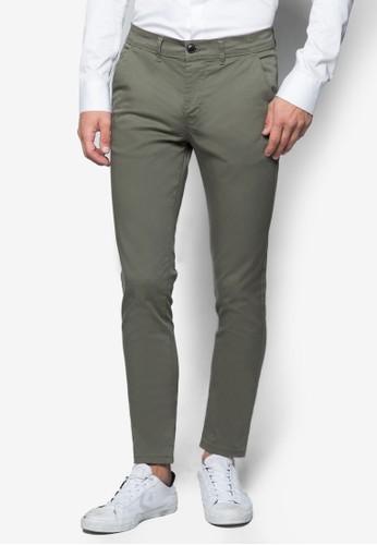 彈性貼身斜布長褲, 服zalora 心得飾, 長褲