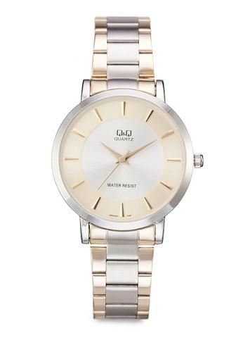 Q&Q Q9zalora 心得44J401Y 雙色纖薄鍊錶, 錶類, 飾品配件