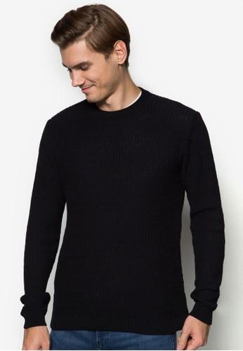 暗紋zalora退貨圓領長袖衫, 服飾, 外套