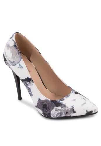 抽zalora鞋子評價象印花尖頭高跟鞋, 女鞋, 鞋
