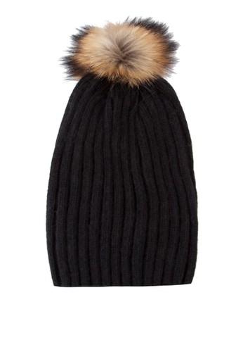 混色毛球針織帽, 飾品配件zalora退貨, 飾品配件