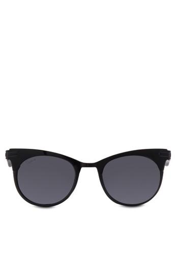 West 拼接貓眼太陽眼鏡, 飾品配件,zalora 評價 貓眼框