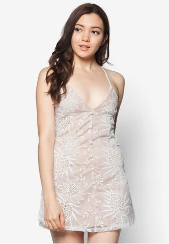 Jane zalora開箱背部交叉細肩帶連身裙, 服飾, 短洋裝