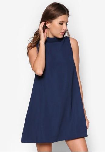 高領直筒連身裙, 服飾,zalora 評價 正式洋裝