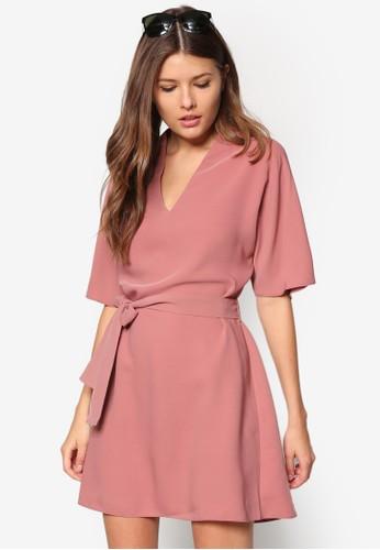 和風腰帶zalora 評價傘擺洋裝, 服飾, 正式洋裝