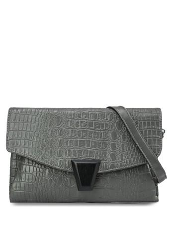 暗紋翻蓋手拿包, 包, zalora 鞋評價飾品配件