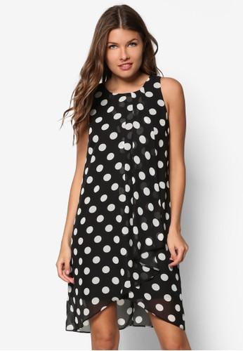 Petite 點點荷葉zalora 評價飾連身裙, 服飾, 正式洋裝