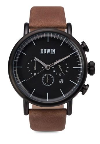ELEMENT 計時真皮圓框裱, zalora 心得錶類, 皮革錶帶