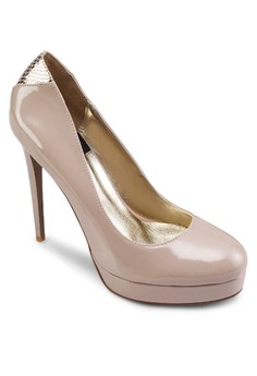 漆面厚底高跟鞋