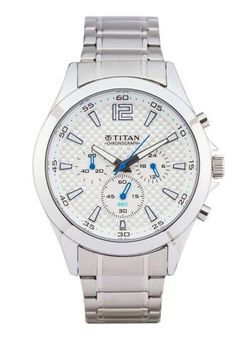 Titan 9323zalora鞋子評價SM07 多錶盤金屬錶, 錶類, 紳士錶