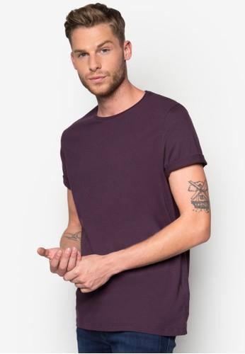 修身圓領棉質T zalora鞋恤, 服飾, 素色T恤