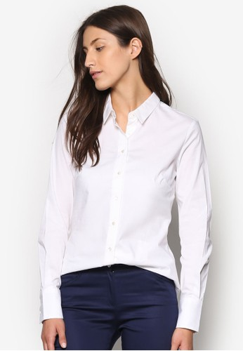 棉質長袖襯衫, 服飾, 上zalora 心得衣