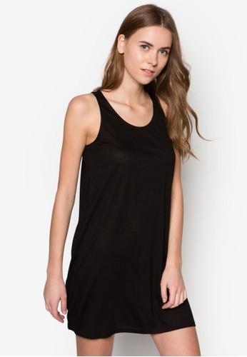 簡約挖背無袖連身裙, 服zalora 鞋評價飾, 洋裝