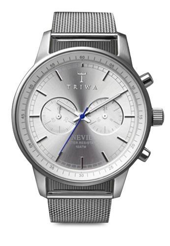 zalora 台灣Stirling Nevil 網眼圓框手錶, 錶類, 計時型