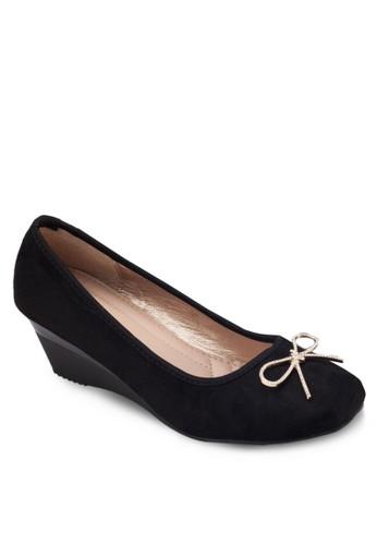 蝴蝶結楔形跟鞋zalora 心得, 女鞋, 鞋
