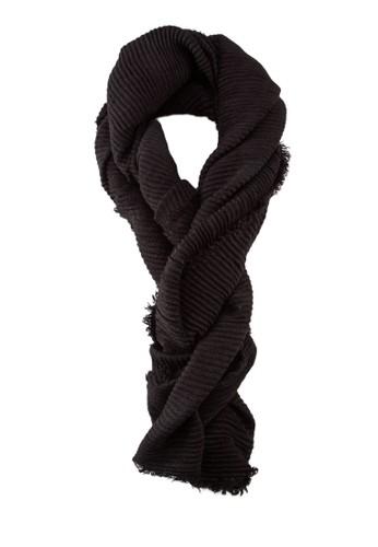 羅紋長圍巾, 飾品配件, 披zalora 心得肩