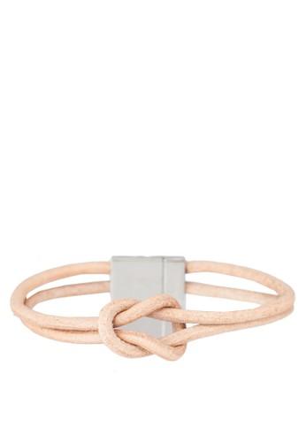 扭結雙圈手環, 飾品配件, 手鐲 & zalora開箱手環