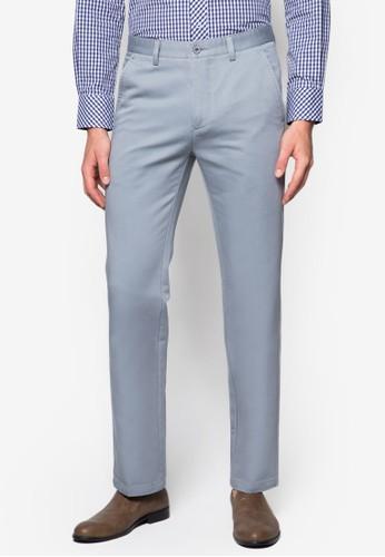 棉質直zalora鞋筒西裝長褲, 服飾, 窄管褲
