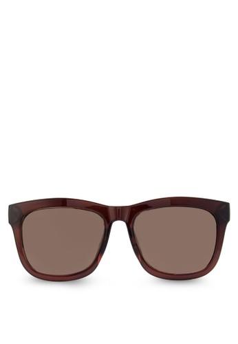 方形粗框太陽眼鏡, 飾品配件, 長zalora 評價框