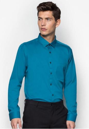 基本寬素色長袖襯衫, 服飾, 服zalora鞋飾