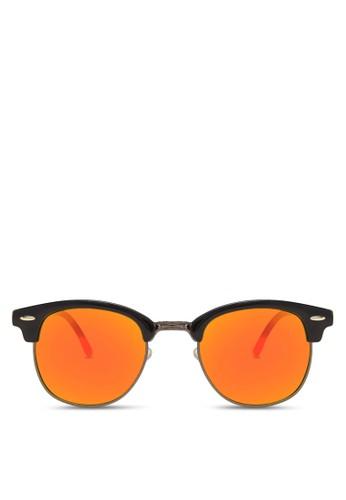 復古半框太陽眼鏡, 飾品配件zalora開箱, 飾品配件